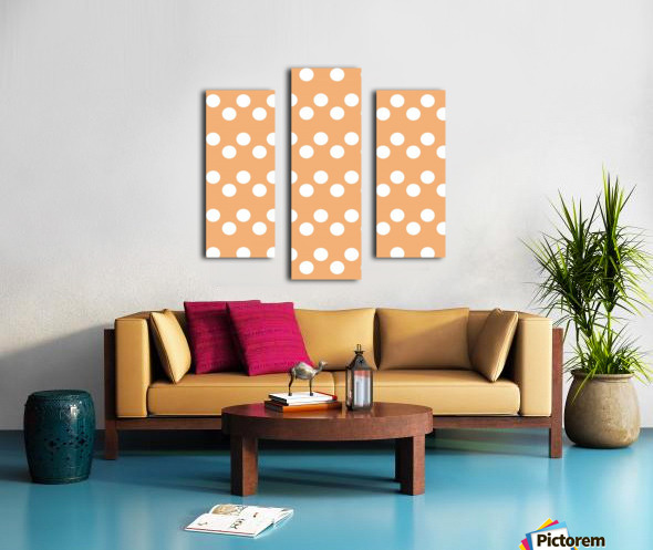 Sandy Brown Polka Dots Canvas print