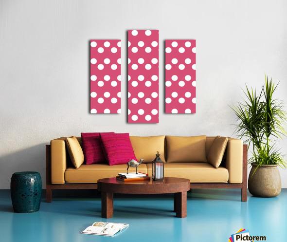Sweet Pink Polka Dots Canvas print