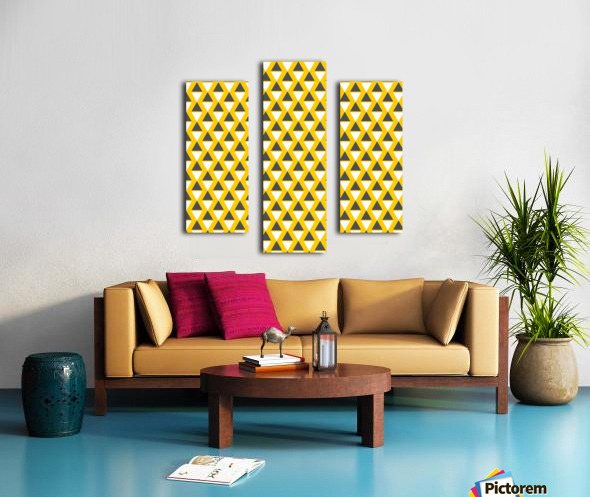 Yellow   pyramid Canvas print