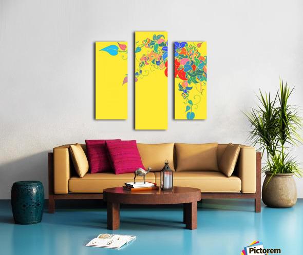 Vibrant Floral Design  Canvas print