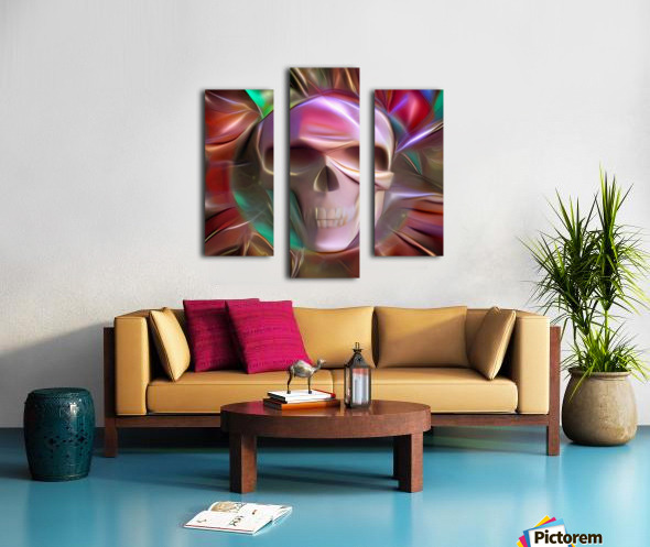 Glowing Skull Canvas print