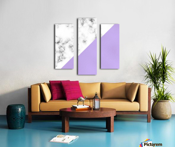 ABSTRACT MODERN PURPLE GLASS MARBLE Canvas print