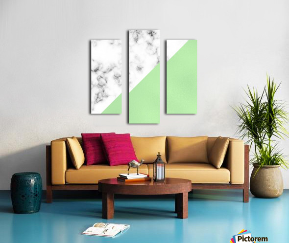 ABSTRACT MODERN GREEN GLASS MARBLE Canvas print