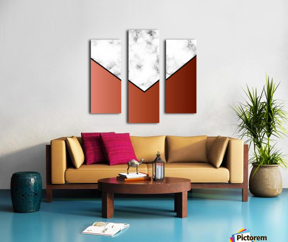 ABSTRACT BRICK MODERN MARBLE Canvas print