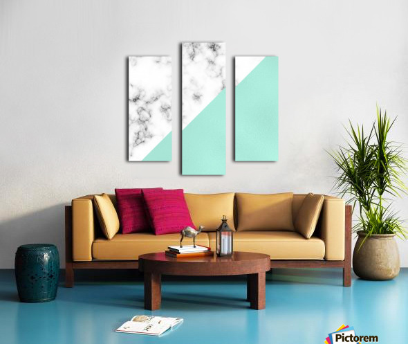 ABSTRACT MODERN TURQUOISE GLASS MARBLE Canvas print