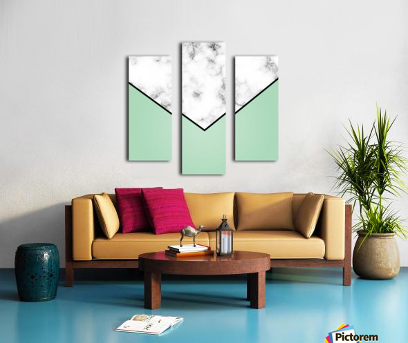 ABSTRACT GREEN PASTEL MODERN MARBLE Canvas print