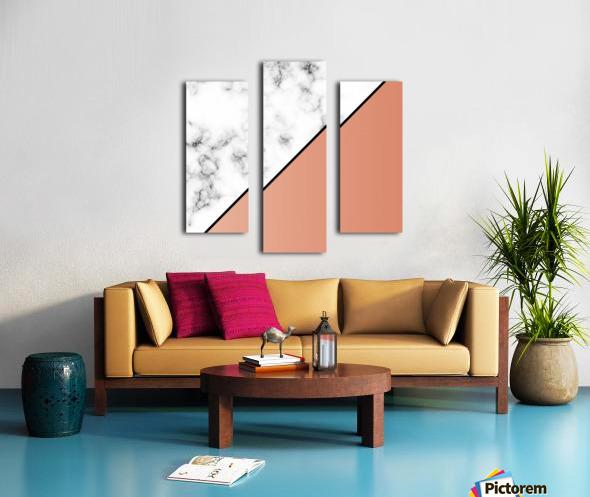 ABSTRACT MODERN ORANGE MARBLE Canvas print