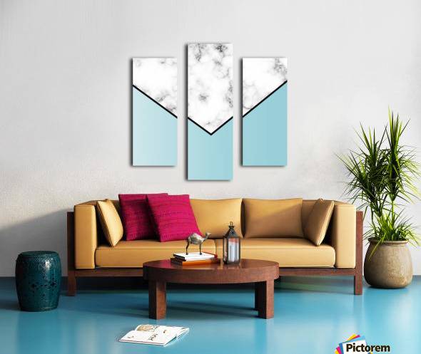 ABSTRACT BLUE TINT MODERN MARBLE Canvas print