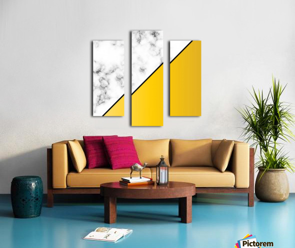 ABSTRACT MODERN YELLOW MARBLE Canvas print