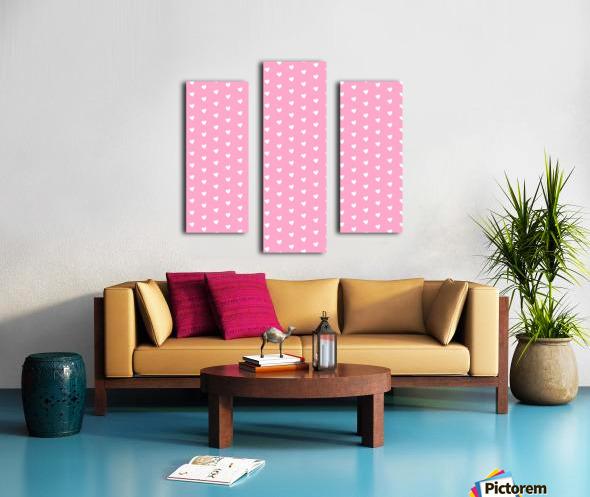 Carnation Pink Heart Shape Pattern Canvas print