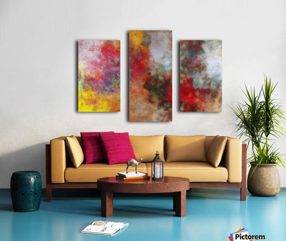 Winter Roses Canvas print