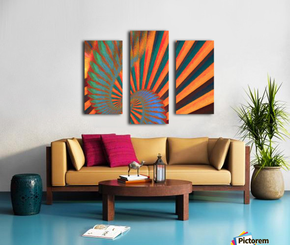 Composition in Orange Blue & Green Canvas print