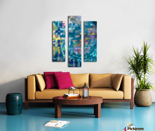 A Vision in Blue Canvas print