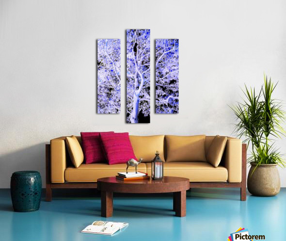 Art of a Violet Blue Tree Canvas print
