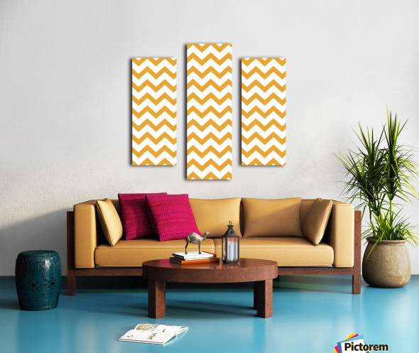 MARIGOLD CHEVRON Canvas print