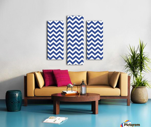 ROYAL BLUE CHEVRON Canvas print