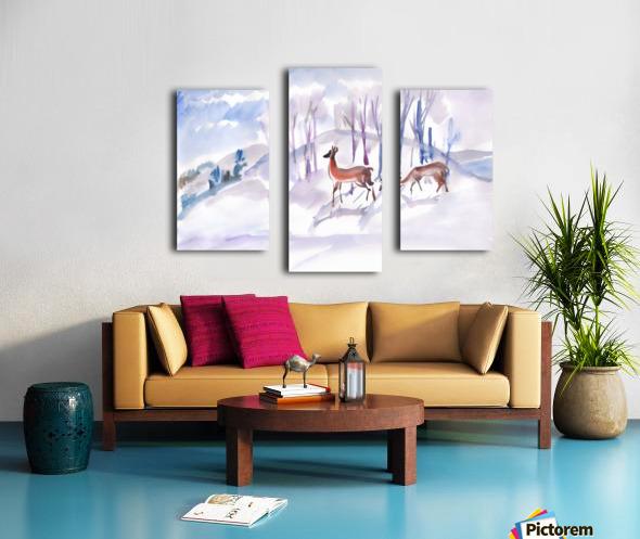 Roe Deers Canvas print