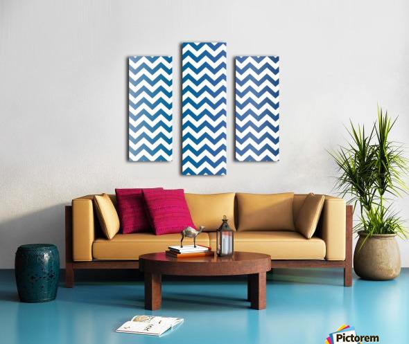 BLUEBERRY CHEVRON Canvas print