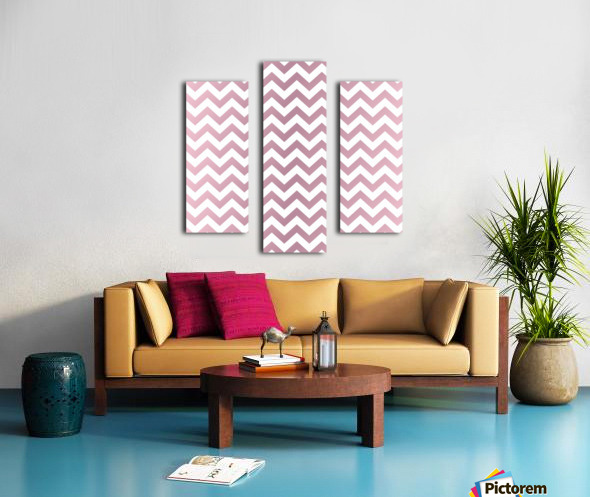 PINKY SHADE CHEVRON Canvas print