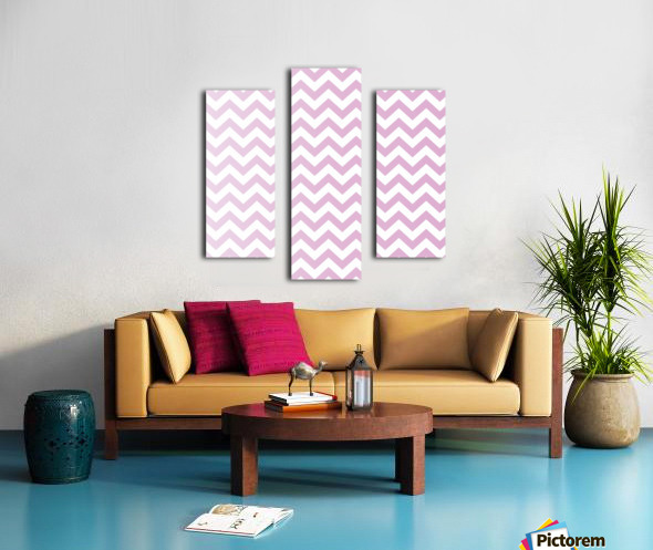 SPRING PINK CHEVRON Canvas print