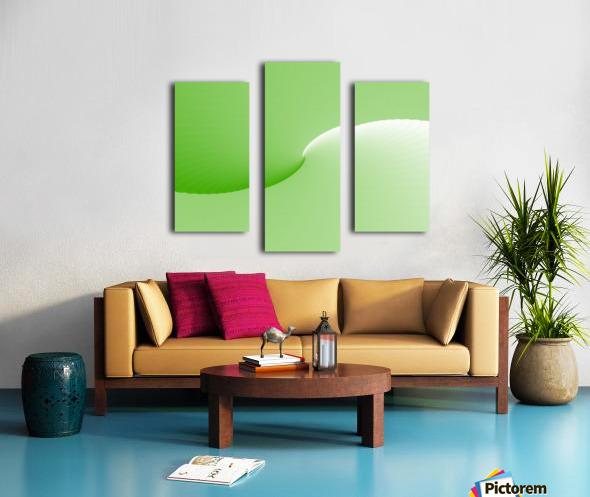 GREEN ABSTRACT  ORIGINAL Canvas print