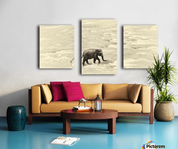 RIVER ELEPHANTS 5. Canvas print