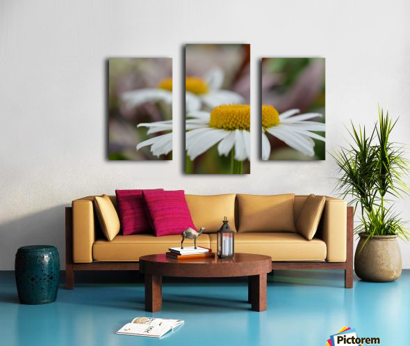 White Flower Photograph Canvas print