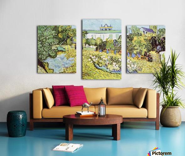 The garden of the Daubignys by Van Gogh Canvas print
