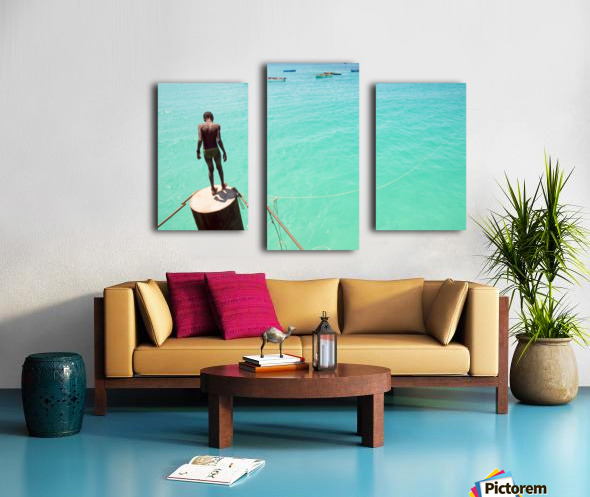 INTO THE BLUE 2. Canvas print