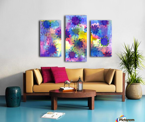 Watercolor blots Canvas print
