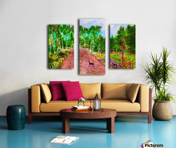 Old Road to Cochoran  Canvas print