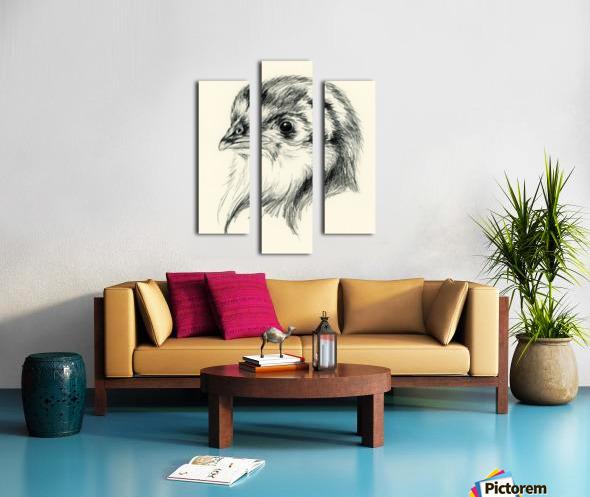 Black Australorp Chic in Charcoal Canvas print