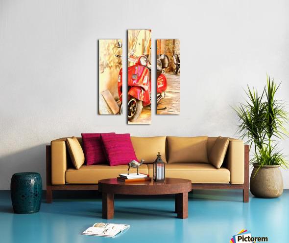 The Red Vespa Canvas print