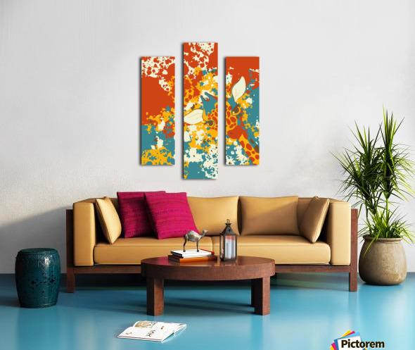 Cute Giraffe Abstract Canvas print