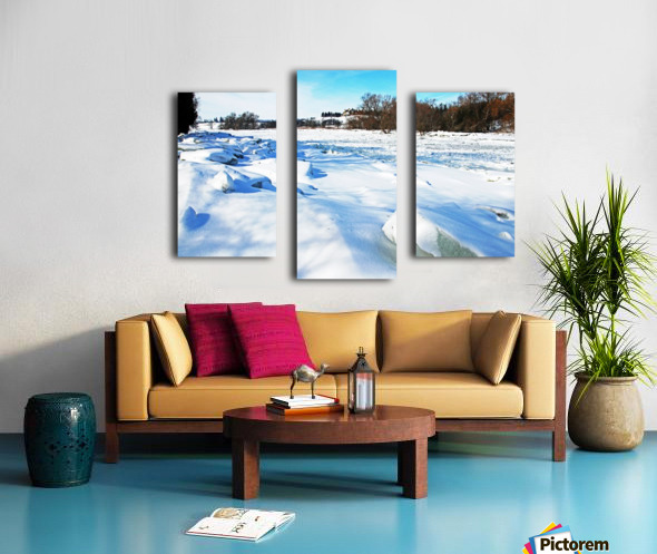 Frazil Ice On The Grand River West Montrose Canvas print