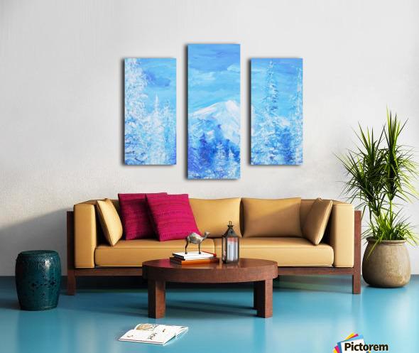 Monochromatic Blue Rocky Mountains Canvas print