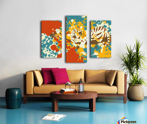 Little Tiger Abstract  Canvas print