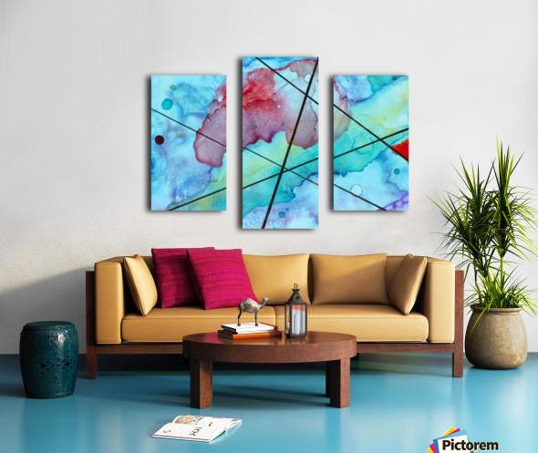 Blue under Lines  Canvas print
