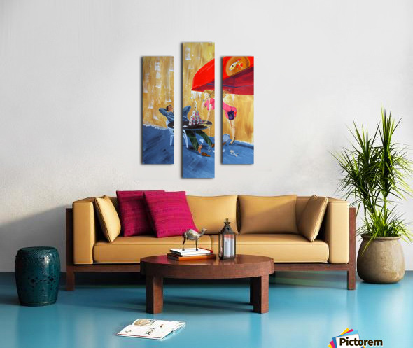 Drink and play Canvas print