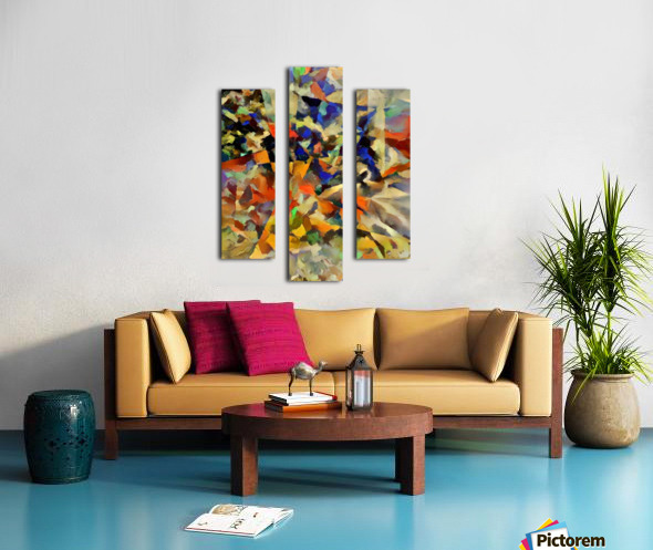 Abstract Painting with Geometric Figures Canvas print