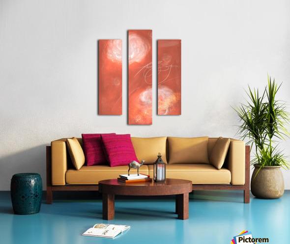 Floral Pink Coaral  Canvas print