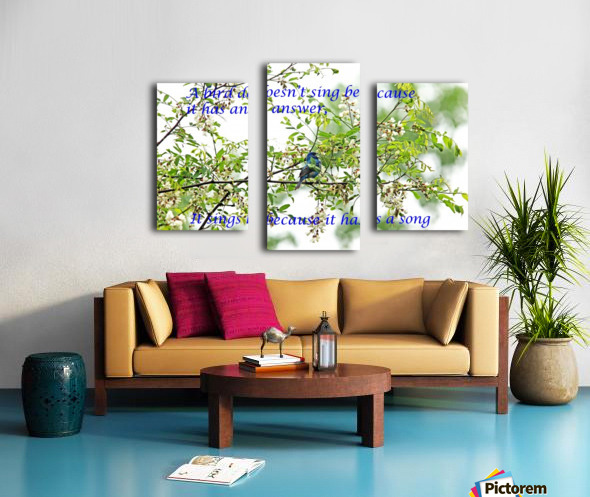 Because It Has A Song Canvas print