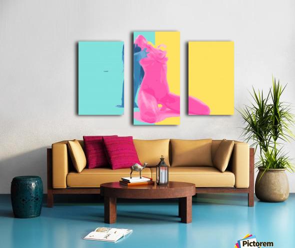 Pink Desert Blue Girl Canvas print