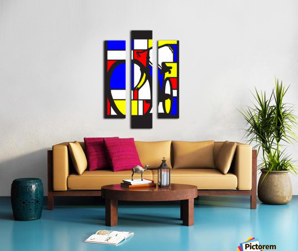 mondrian bike_1553400212.88 Canvas print