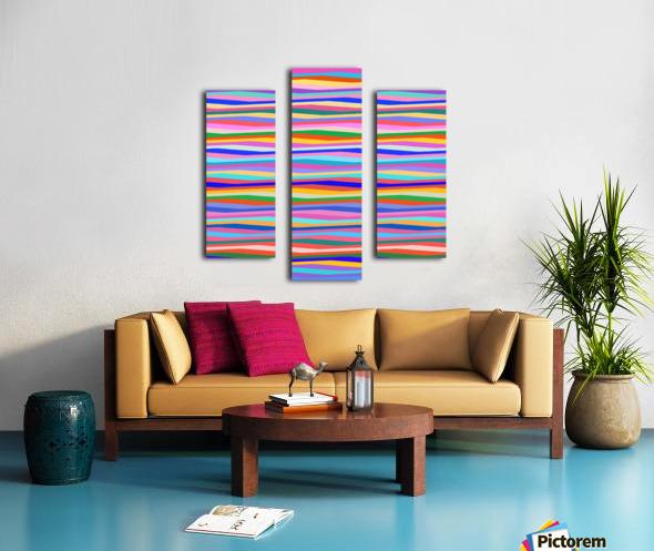 Wavy Stripes Abstract  Canvas print