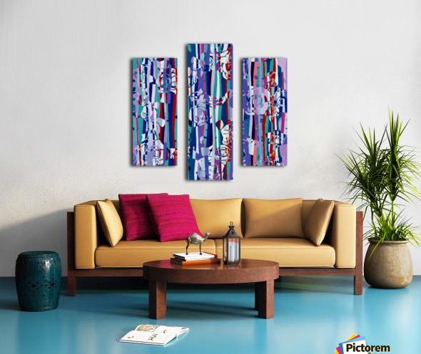 Abstract Mixed Up Canvas print