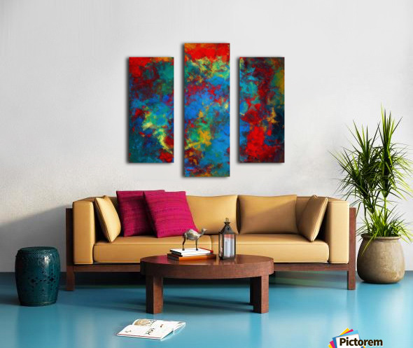A Storm of Blood and Blue Canvas print