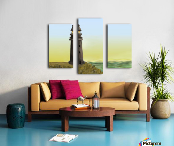 Sunset with Lighthouse Canvas print