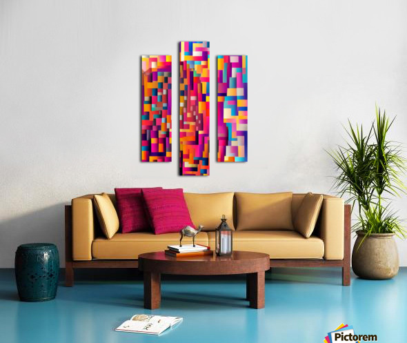 Geometric Abstract Painting Canvas print