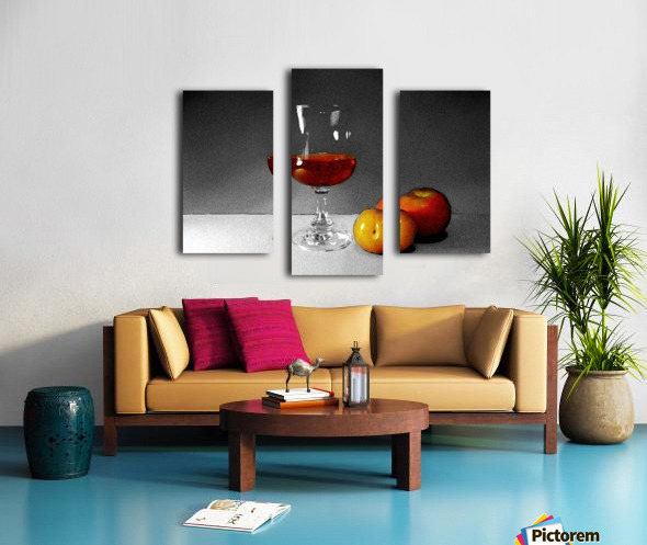 Wine and Fruits Canvas print